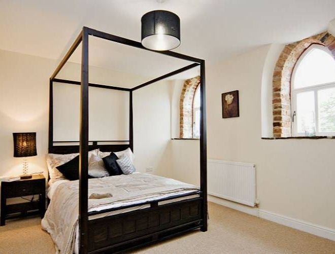 Barn conversions in Yorkshire interior design property developers master bedroom