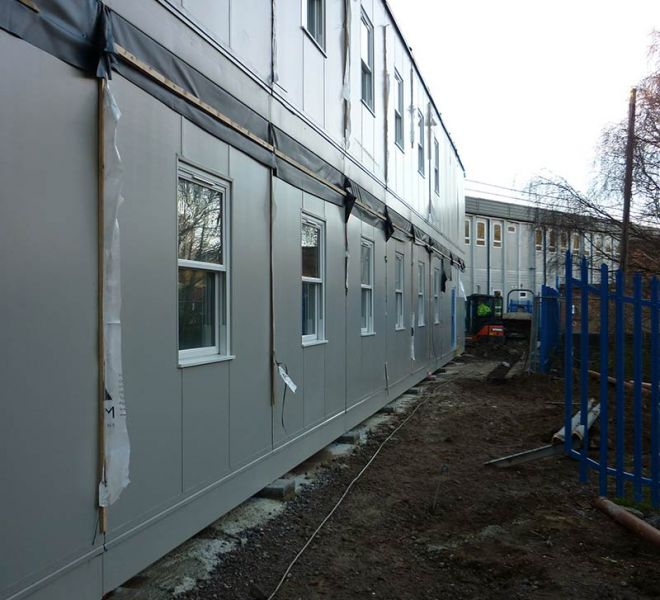 Modular classroom builder construction